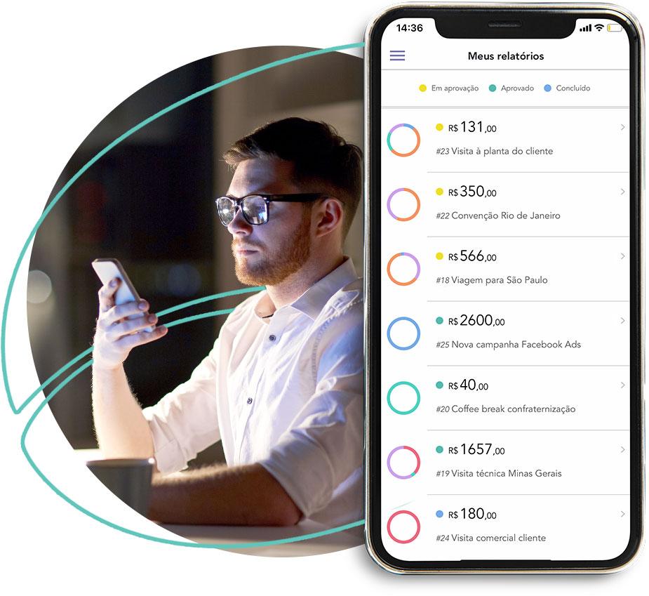Controle de despesas ponta a ponta no aplicativo mobile