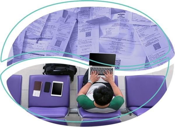 Funcionário lançando despesas e adiantamentos de forma manual